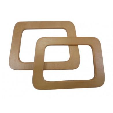 Asas bolso madera marrón 17cm