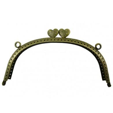 Boquilla bolso 16,5 cm oro viejo corazon