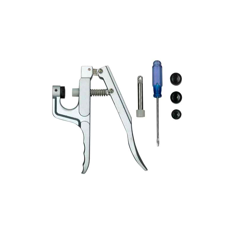 Máquina para broches de presión snaps