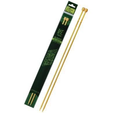 Agujas calceta de bambú 33 cm