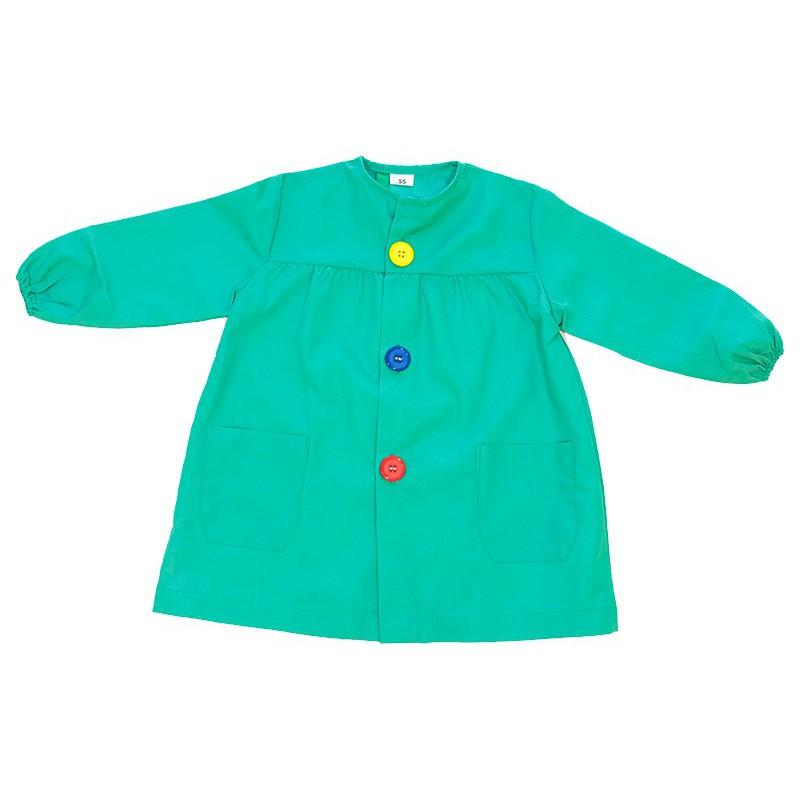 Mandilón verde botón grande
