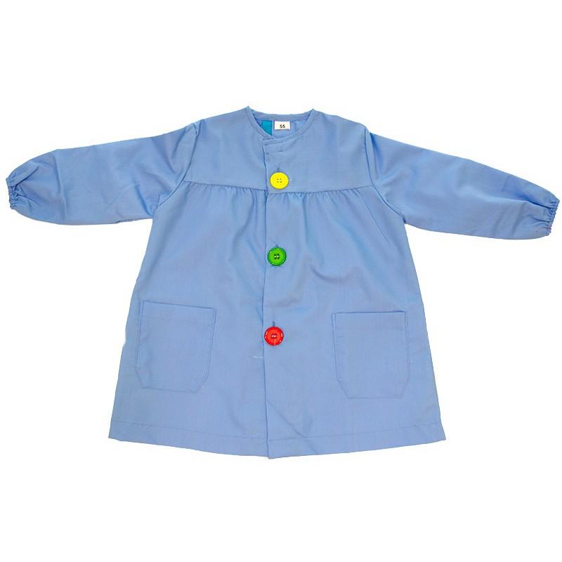 Mandilón azul botón grande