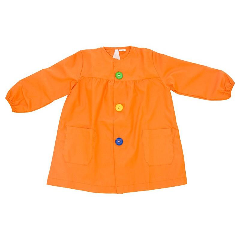 Mandilón naranja botón grande