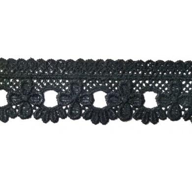 Guipur negro 3,5 cm