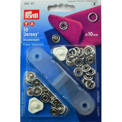 Botones de presión niquel 10mm