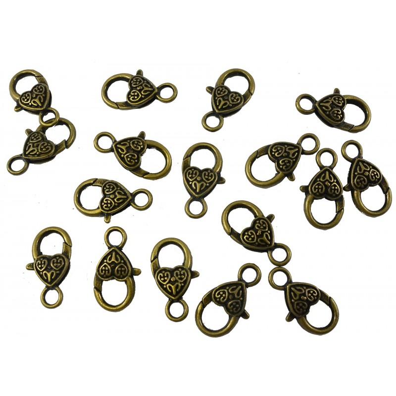 Mosquetón para cadena oro viejo (2,5 cm)