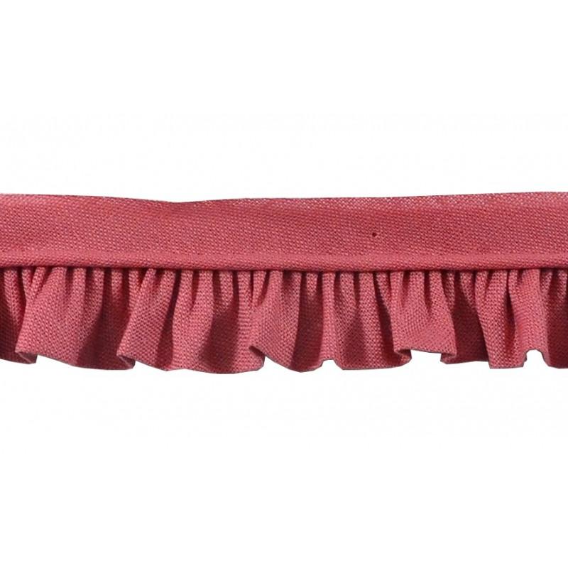 Vivo con fruncido rosa palo (2,5 cm)