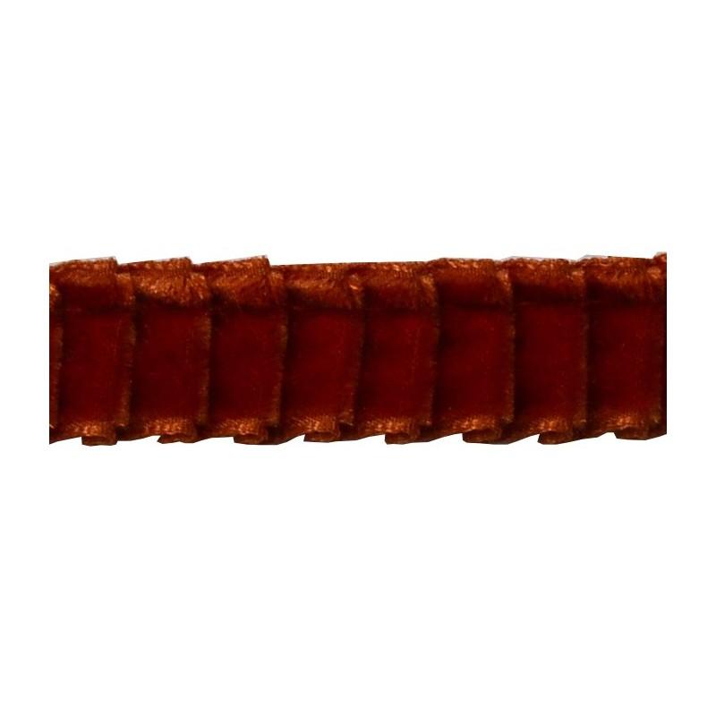 Plisado terciopelo teja 16 mm