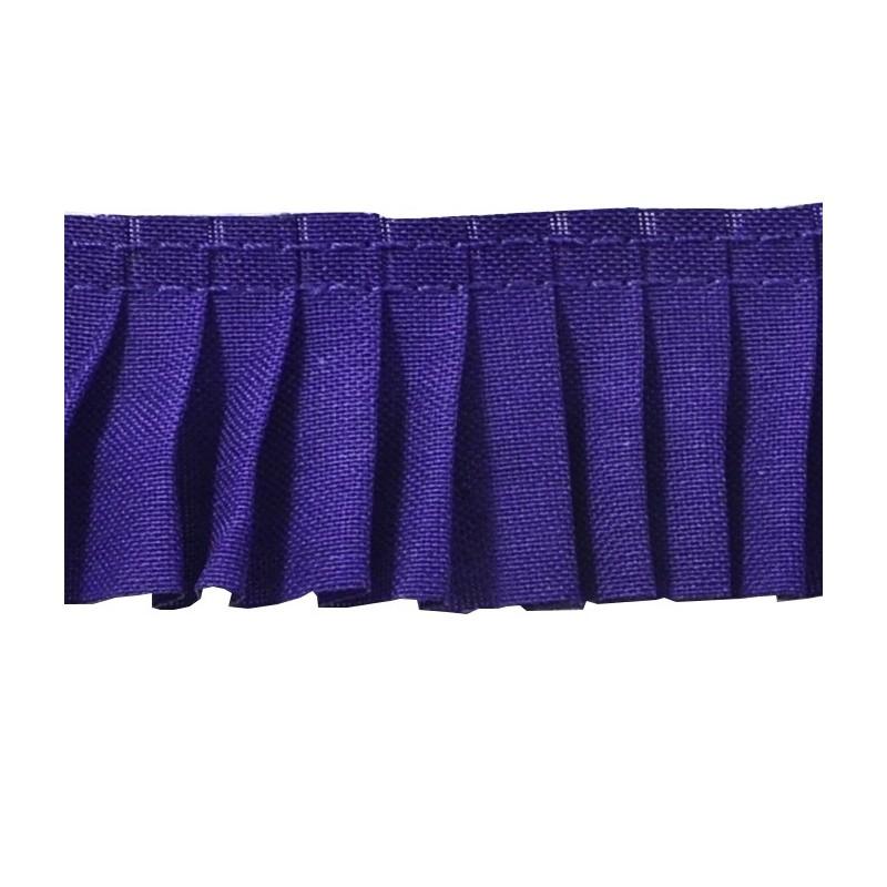 Plisado algodon azulon 3 cm