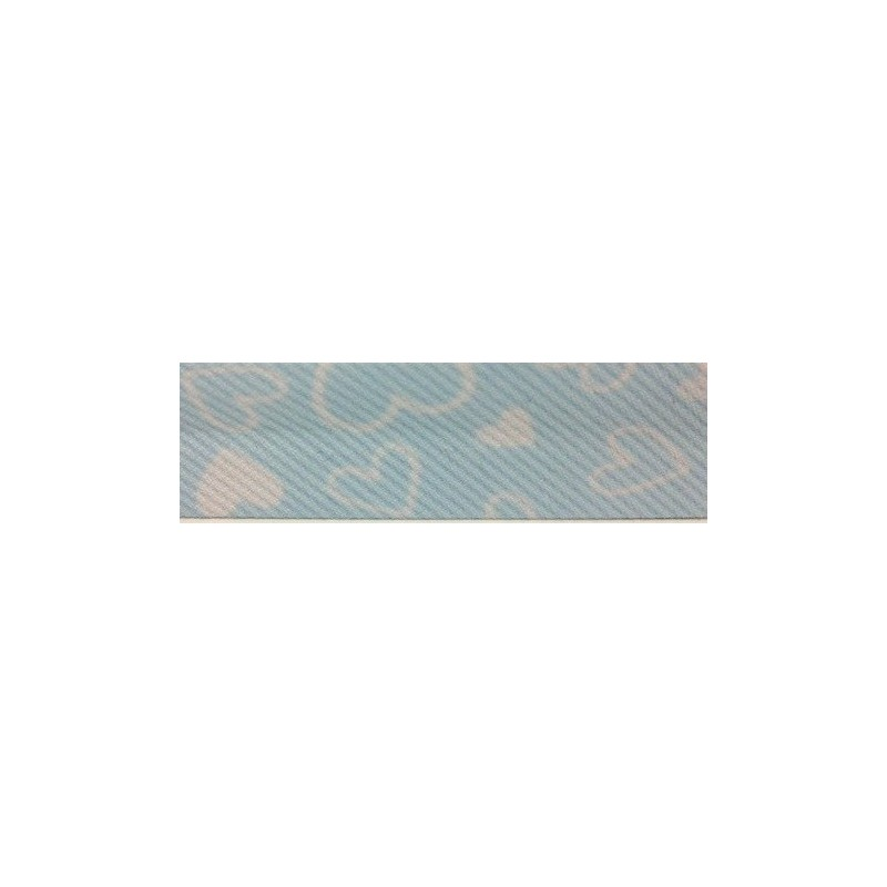 Bies- azul con corazones (18 mm)