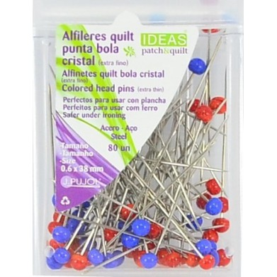 Alfiler quilt punta bola extra fino 0,6X38mm