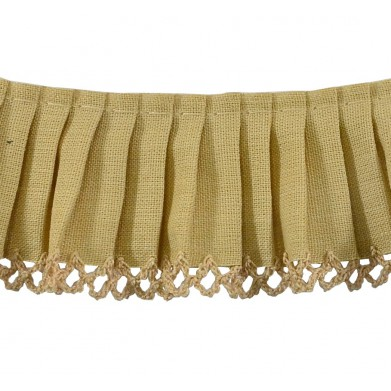 Plisado algodón camel 3,5 cm