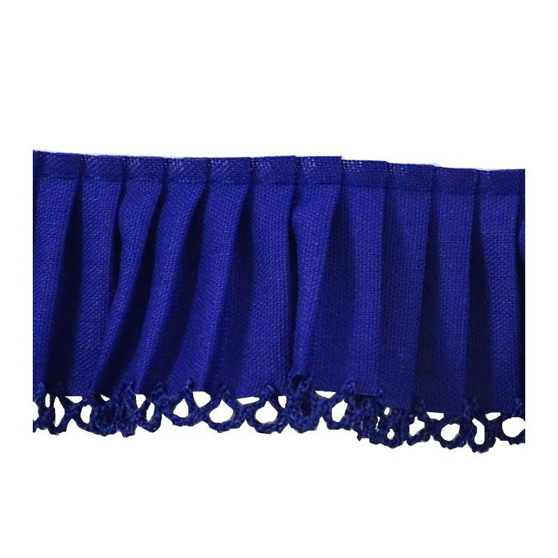 Plisado algodón azulon 3,5 cm