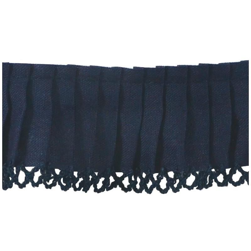 Plisado algodón marino 3,5 cm