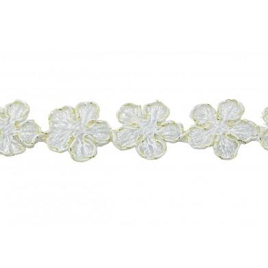 Pasamaneria flores blanca