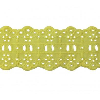 Tira bordada amarillo 5 cm