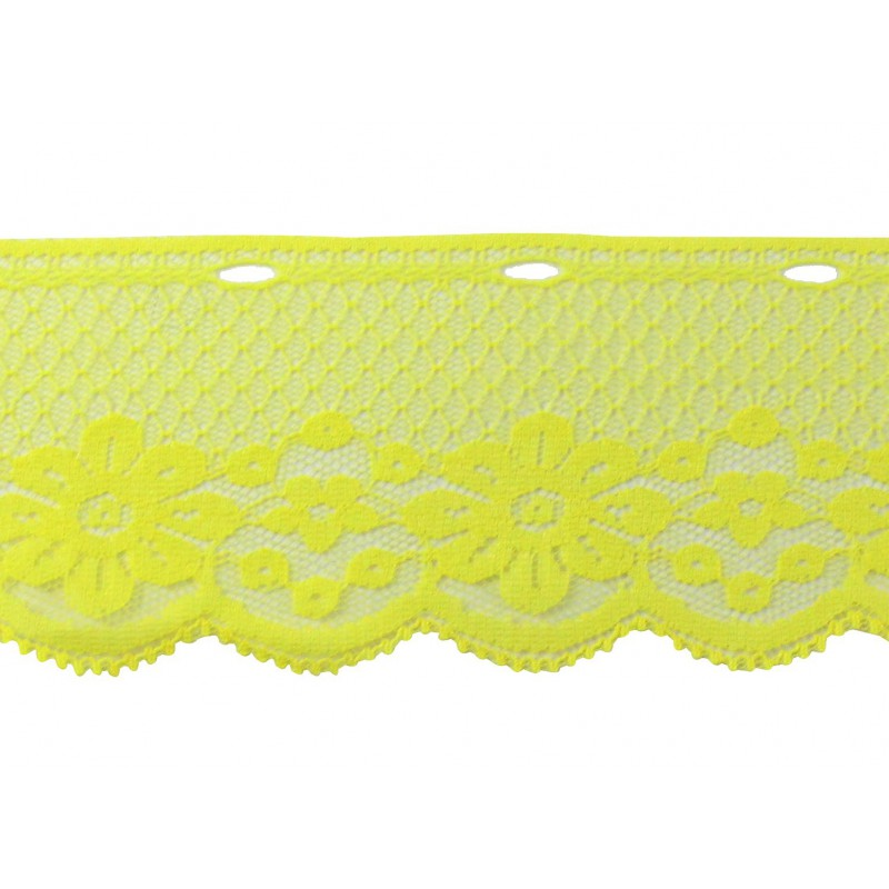 Puntilla nylon amarillo 6cm