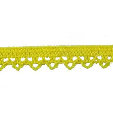Puntilla hilo amarillo 1 cm