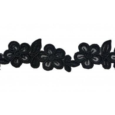 Pasamaneria flores negro