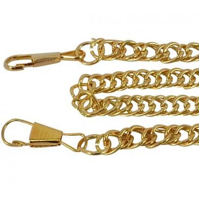 Cadena con mosquetón 1,20 m oro