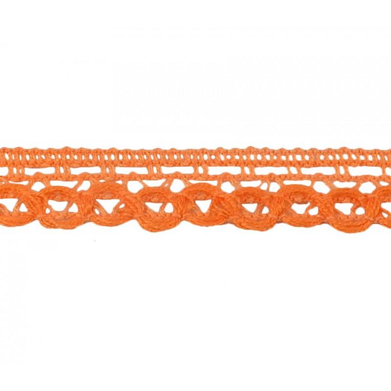 Puntilla hilo naranja 1,5 cm