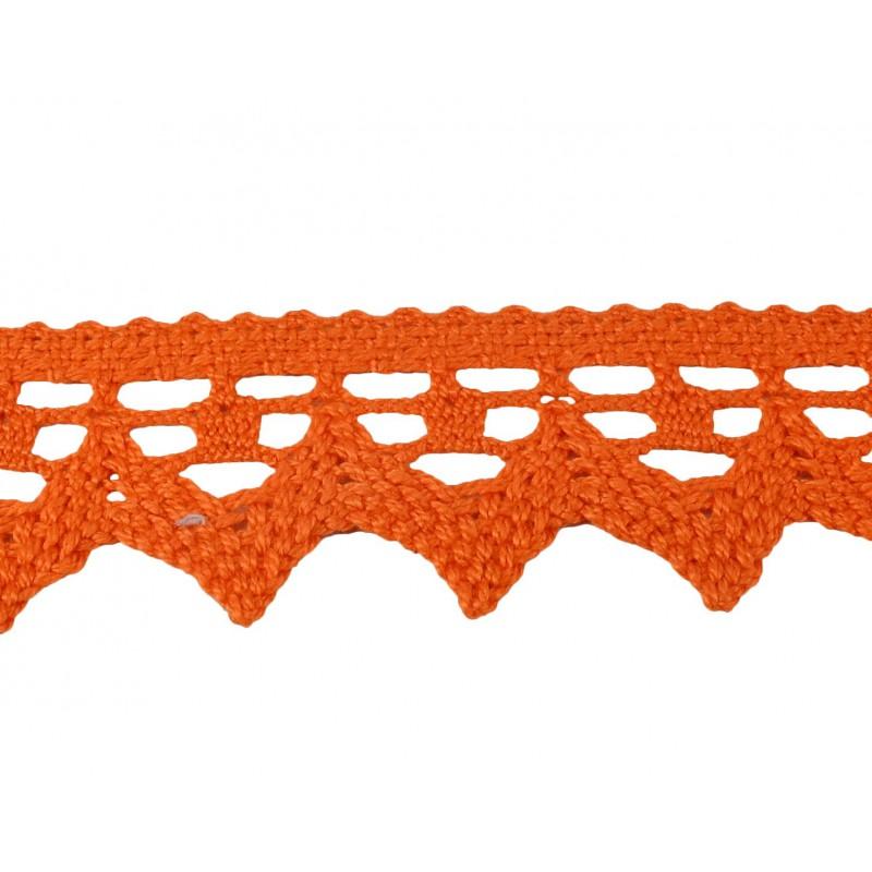Puntilla hilo naranja 4 cm
