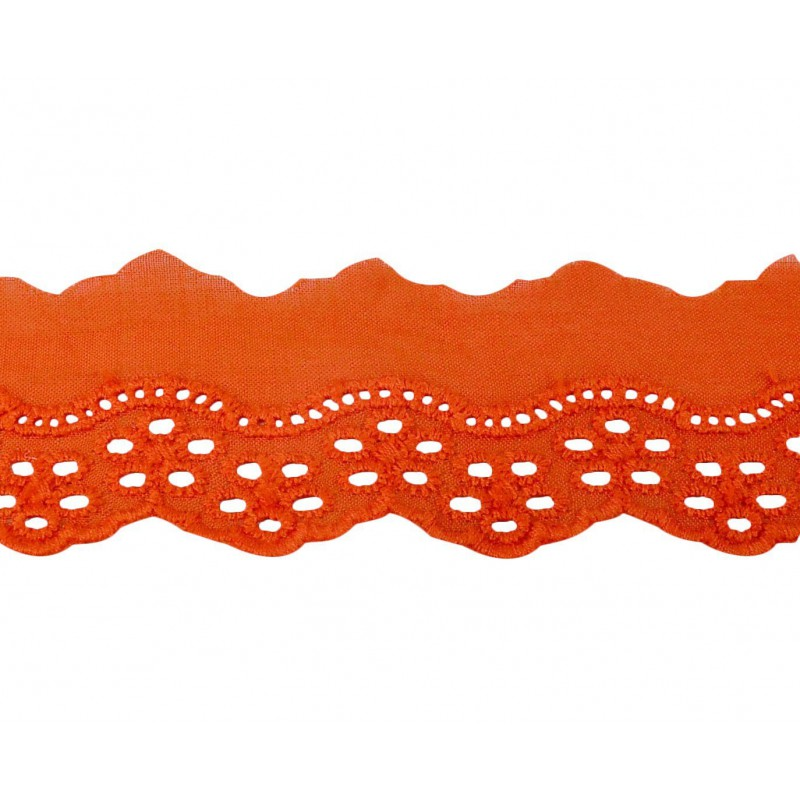 Tira bordada naranja 3 cm