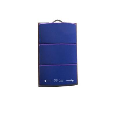 Almohada de bolillos de viaje 49x33cm azul