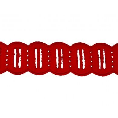 Tira bordada rojo 4 cm