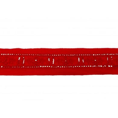 Tira bordada rojo 2,5 cm