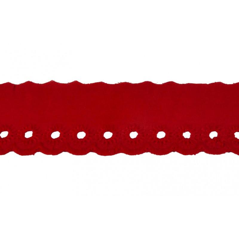 Tira bordada rojo 4,5 cm