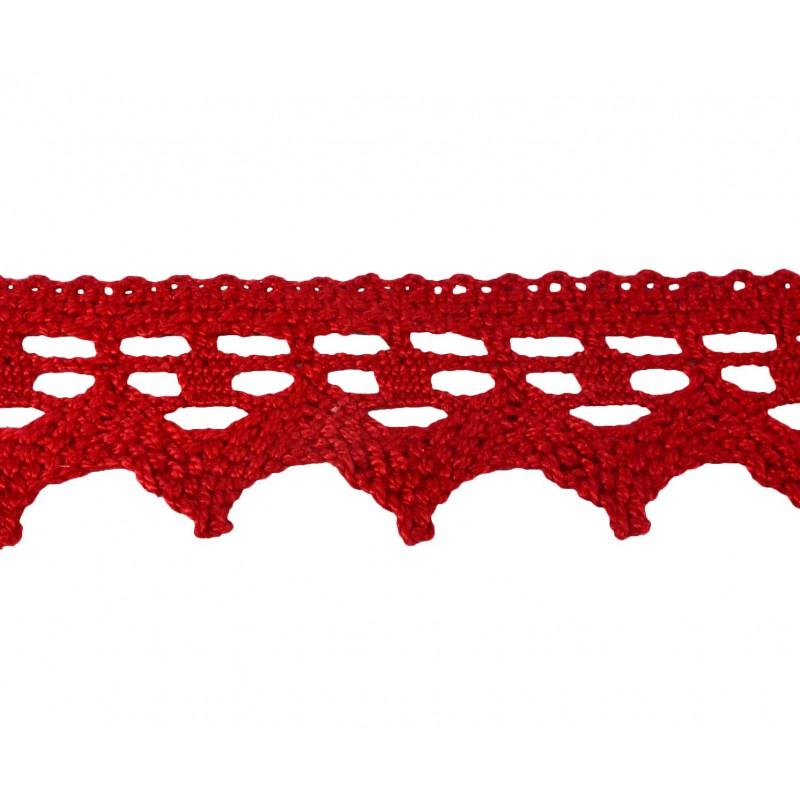 Puntilla hilo rojo 4 cm