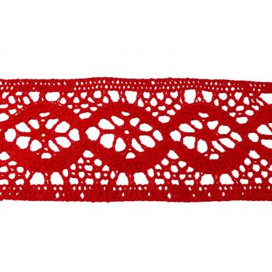 Puntilla hilo rojo 5,5 cm
