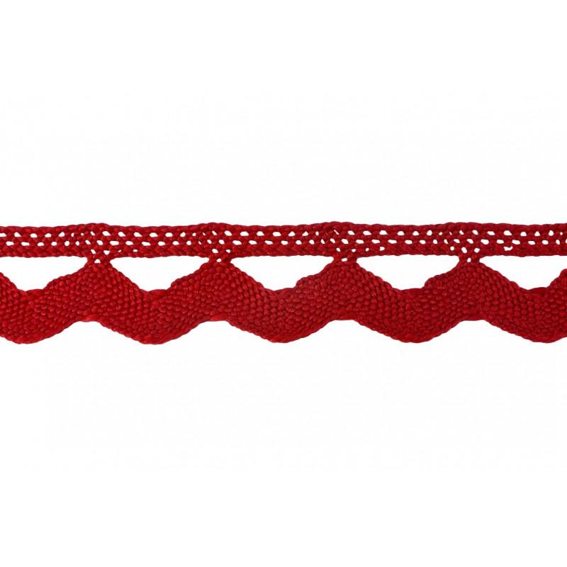 Puntilla hilo rojo 3 cm