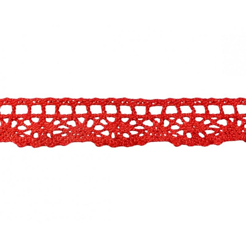 Puntilla hilo rojo 2 cm