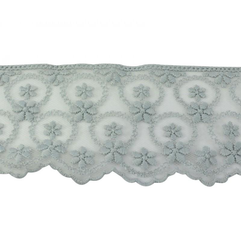 Puntilla cristal gris 6 cm