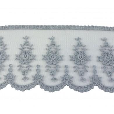 Puntilla cristal gris 7 cm