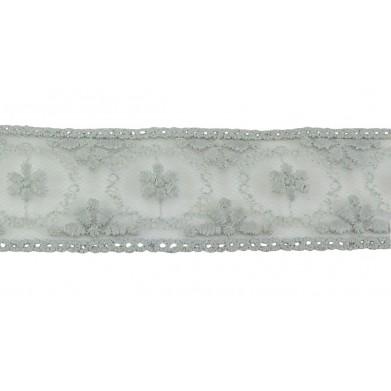 Puntilla cristal gris 3 cm
