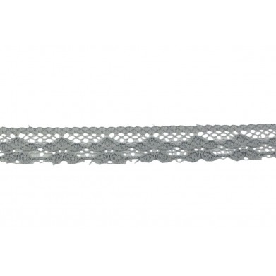 Puntilla nylon gris 1,5 cm