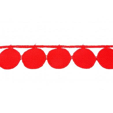 Puntilla hilo roja 3 cm