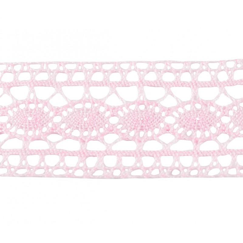 Puntilla hilo rosa 3,5 cm