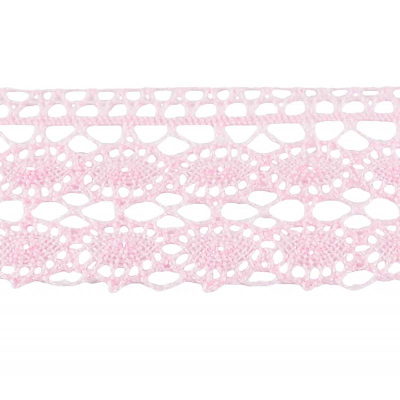 Puntilla hilo rosa 4 cm