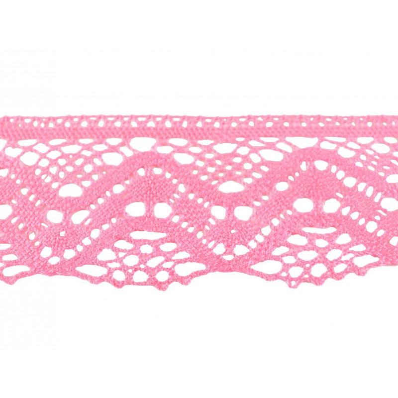 Puntilla hilo rosa 6 cm