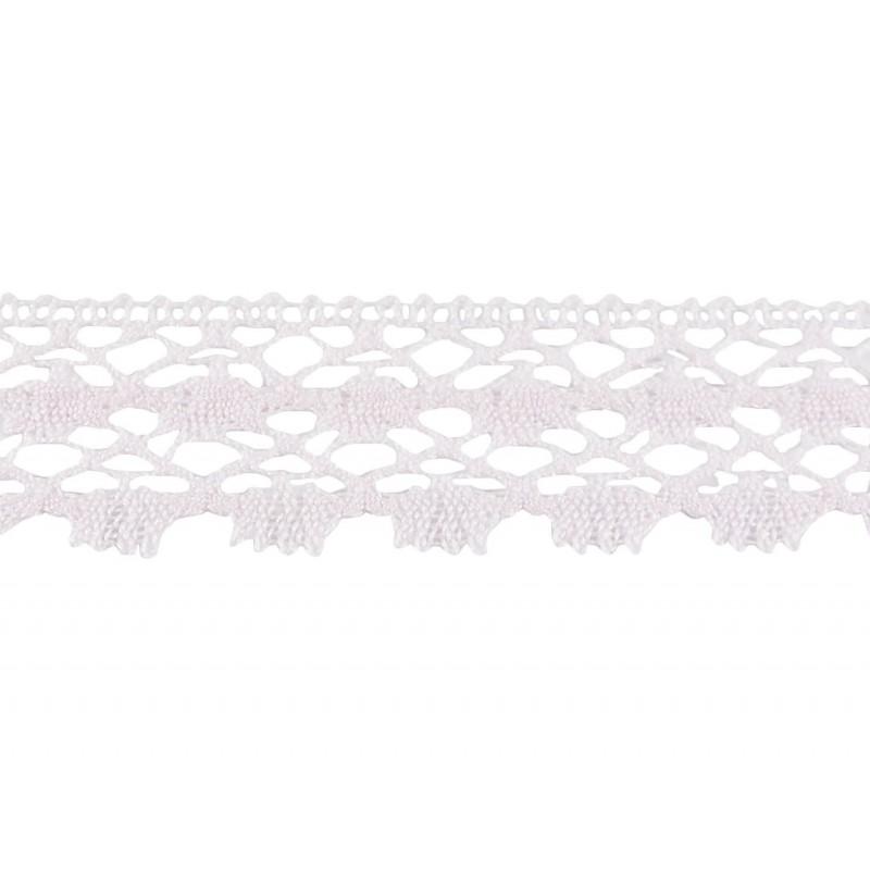 Puntilla hilo rosa 3 cm