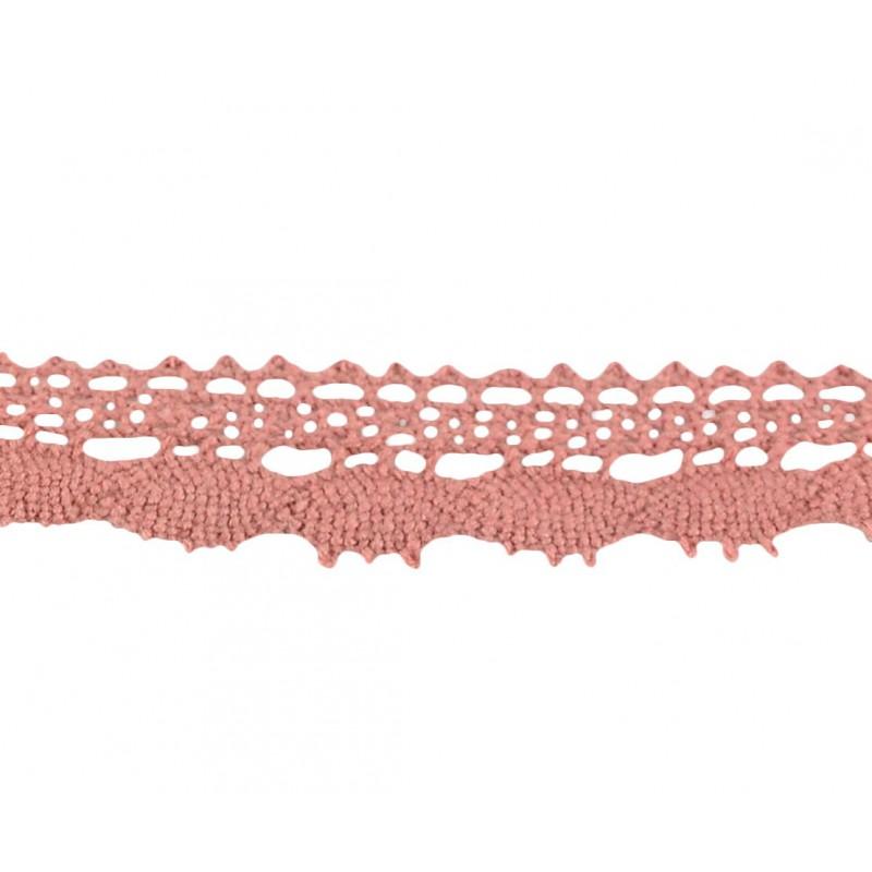 Puntilla hilo rosa oscuro 2 cm