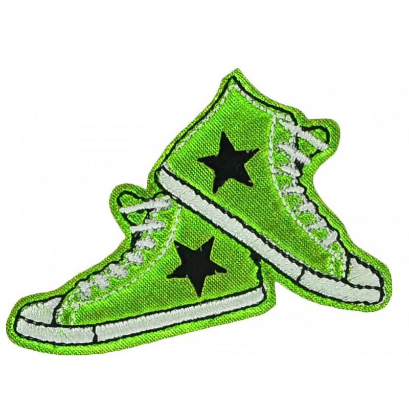 Aplique converse verde 5 cm x 7 cm