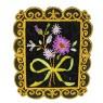 Aplique flores 8,5 cm x 7 cm