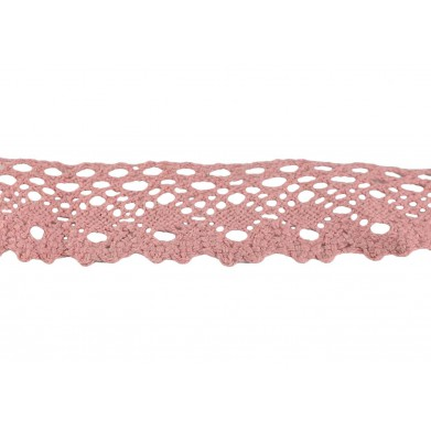 Puntilla hilo rosa oscuro 2,5 cm