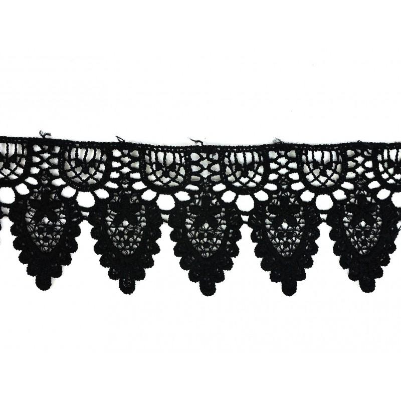 Guipur negro 5,5 cm