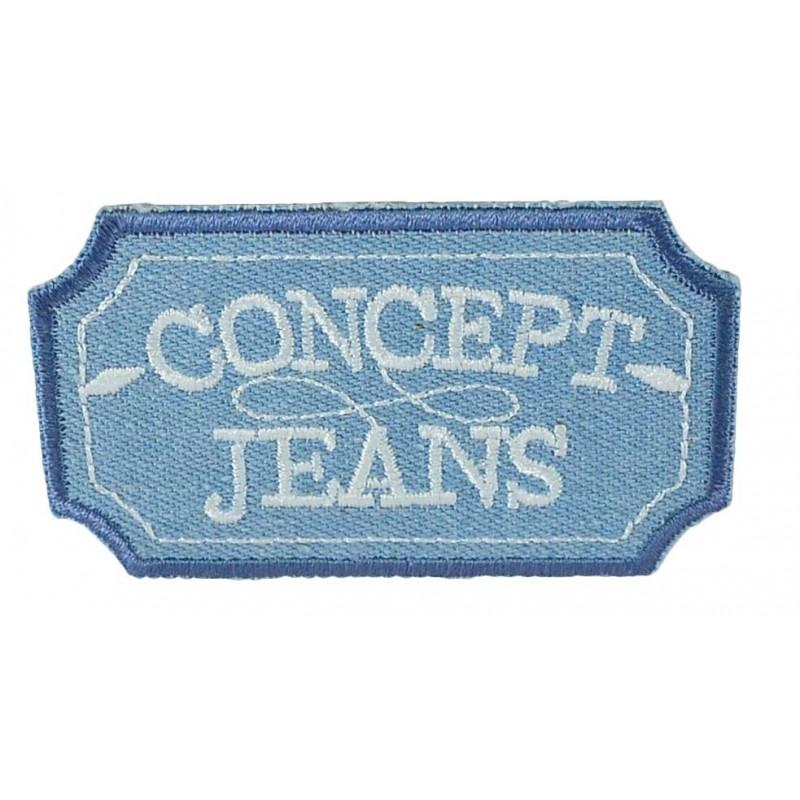 Aplique Concept jeans 4,5 cm x 7,5 cm